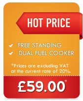 Free Standing Dual Fuel Cooker